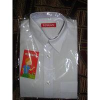 Рубашка белая для школьника рост 134. Новая, в упаковке