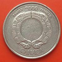 25 центов 2000 КАНАДА - Миленниум - Семья