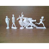 Советские спортсмены: фигуристка, гимнастка, бегунья, конькобежка и конькобежец