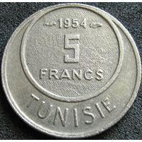 Фр. Тунис 5 франков 1954