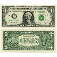 США. 1 доллар (образца 2006 года, E, Вирджиния, P523, XF)