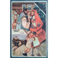 Рождественская открытка. Дети. Польша. 1920-е. Подписана.