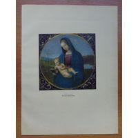 Рафаэль, литография, Мадонна Конестабиле, 1959