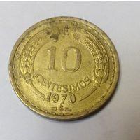 Чили 10 сентесимо 1970
