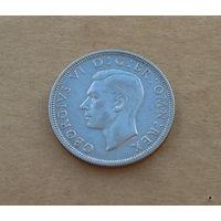 Великобритания, Георг VI (1936-1952), полкроны 1944 г., серебро
