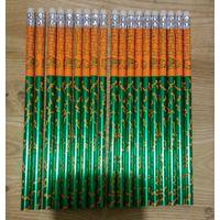 Карандаши простые, HB, с ластиком, 20 шт. одним лотом