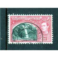 "Тринидад и Тобаго.Ми-142 . ""Blue Basin"" водопад. Серия: King George VI.1938."