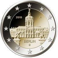2 евро 2018 Германия J Берлин UNC из ролла