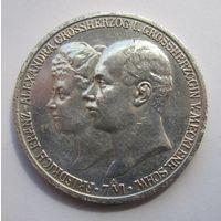Германия, Мекленбург Шверин, 2 марки, 1904, серебро
