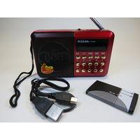 Радиоприемник с Дисплеем, USB, microSD, AUX