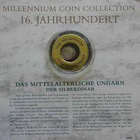 """YS: Венгрия, Рудольф, серебряный динар 1582, XVI век, серия """"Монеты тысячелетия"""""""