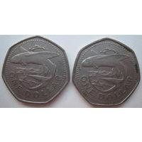 Барбадос 1 доллар 1988, 1989 гг. Цена за 1 шт. (g)