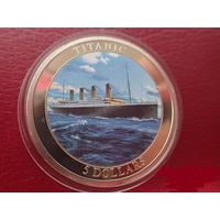 Либерия 5 долларов 2006 Корабль Титаник .ОРИГИНАЛ !!