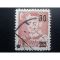 Дания 1955 надпечатка король Фредерик 9