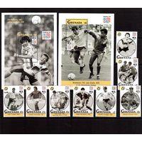 Гренада-1993 (Мих.2657-2664,Бл.349-350) ** , Спорт, ЧМ-1994 по футболу