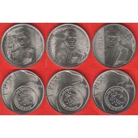 Филиппины НАБОР 3 монеты 2016 Коста, Рикарте, Торрес UNC