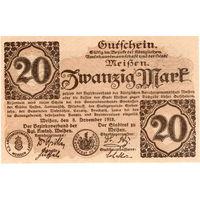 Германия, Мейсен, 20 марок, 1918 г., UNC