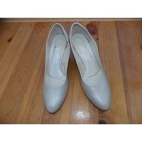 Туфли свадебные, туфли жемчужный цвет