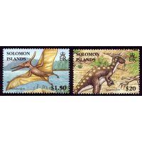 2 марки 2006 год Соломоновы острова Динозавры 1317,1322