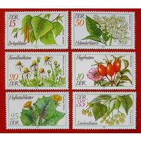 ГДР. Флора. ( 6 марок ) 1978 года.