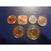 Суринам 6 монет одним лотом