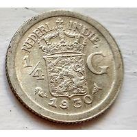 Голландская Ост-Индия 1/4 гульдена, 1930 1-7-39