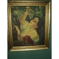 Репродукция Девушка с виноградом