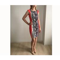 Платье 42 размер корраловое стильное