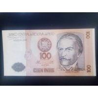 Перу 100 инти 1987г.