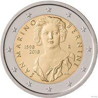2 евро Сан-Марино 2018  Джованни Лоренцо Бернини BU