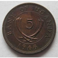 Уганда 5 центов 1966