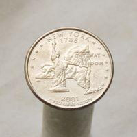 США 25 центов 2001 P Нью-Йорк