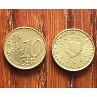 Нидерланды, 10 евроцентов 2000