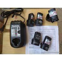 Зарядное устройство Makita. Аккумуляторы. 10.8 вольт.