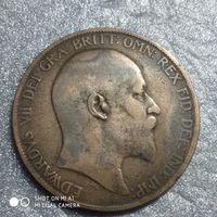 G Великобритания 1 пенни 1904 г. Едуард Едвард 7-й