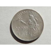 Румыния  100 000 лей 1946г