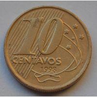 Бразилия 10 сентаво, 1998 г.