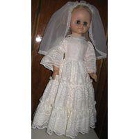 Кукла 60см Невеста Винтаж СССР как НОВАЯ. В родной одежде и обуви