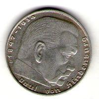 Германия 2 марки 1937 года. D.