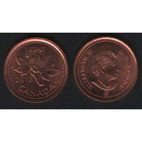 Канада _km490 1 цент 2010 год km490 не магнит ZnCu (f31)**