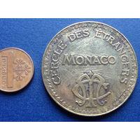 Жетон казино Монако 10 франков SBM, CERCLE DES ETRANGERS