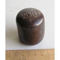 Гирька керамическая 200 гр довоенная СССР 1930-е года вид 2