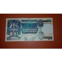 Банкнота  100 шиллингов   Уганда   1996