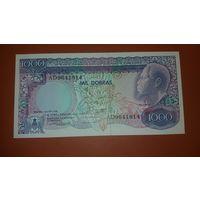 Банкнота 1000 добрас    Сан-Томе и Принсипи  1989