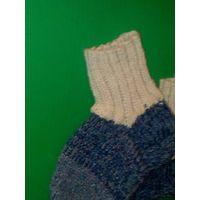 Шерстяные носки из 100 % овечьей шерсти.Ручная вязка