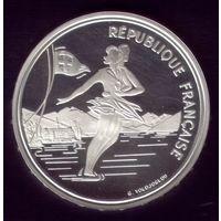 100 Франков 1989 год Франция Фигурное катание