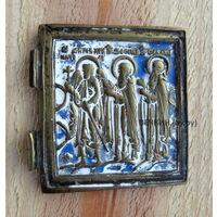 Иконка Три Святых в эмалях. Старт с 1 рубля, без м/ц