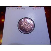 Канада 1 цент 1951 KM#41