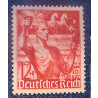 Германия 3 Рейх 1938 Mi#-661.Годовщина прихода к власти Гитлера Лошади. *