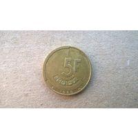 Бельгия 5 франков, 1986г.'BELGIQUE' (sb-1)